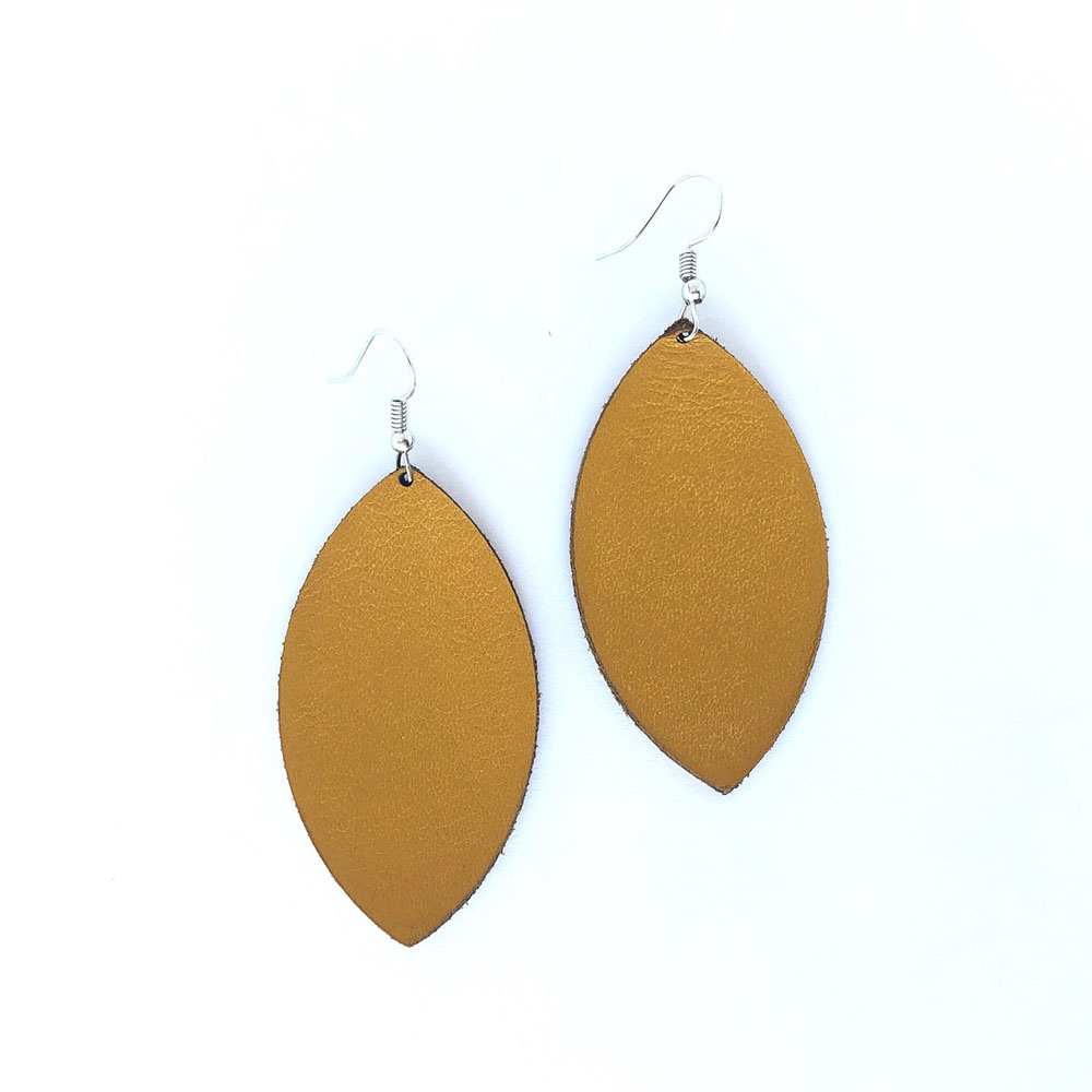 Shield Leather Earrings
